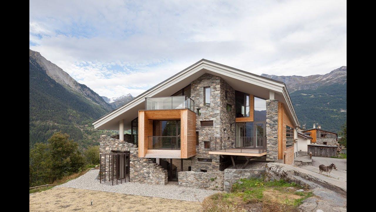 Dise o de casa moderna en la monta a youtube - Casa rural de madera ...