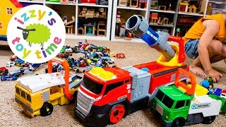 Cars for Kids | Matchbox Hot Wheels SUPERBLAST Firetruck and Power Launch Trucks for Kids