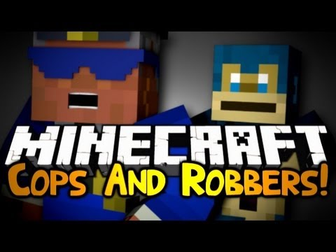 Minecraft: Mini Game: Cops & Robbers! #4 | MONKEY AIDS!