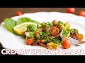 Salad Recipes: Creamy Spinach Salad  with Chicken…