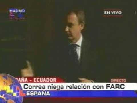 Correa niega relación con FARC