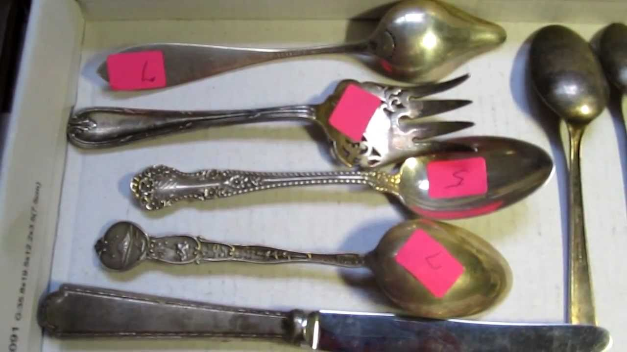 how to find sterling silver at garage sales