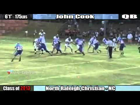 2013 John Cook - North Raleigh Christian Academy QB PREVIEW