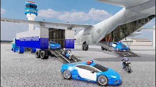 US Police Transporter Plane Simulator (by Dolphin Games) Android Gameplay [HD]