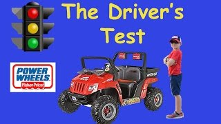 Little Heroes Driving Test Power Wheels Jeep Artic Cat Driving Parody