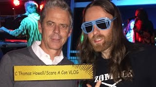 Vegan Tacos at Scare A Con | John Russo | C Thomas Howell VLOG