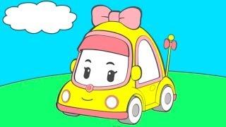 Раскраска из Мультфильма - Робокар Поли: скорая помощь, машинка, автобус