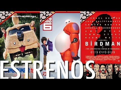Grandes Héroes, Birdman, Una Pareja Más Tonta y más