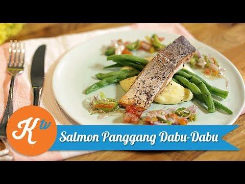 Resep Salmon Panggang Dabu - Dabu