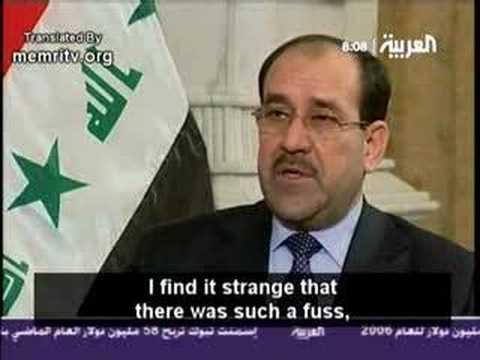 Iraqi Prime Minister Nouri al Maliki about Saddam Execution