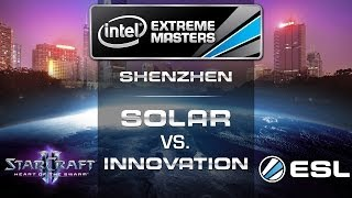 INnoVation vs. Solar (TvZ) - IEM Shenzhen 2014 - Asian Qualifier - StarCraft 2