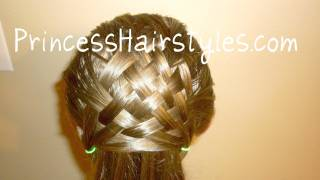 Basket Weave Hairstyle Design Hair4myprincess