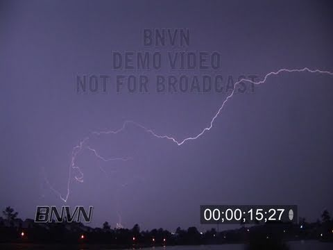 8/17/2007 HD Overnight Lightning Video from Virginia Beach, VA