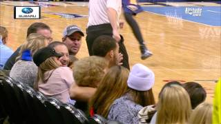 Javale McGee Gets Up Close and Personal with Fan