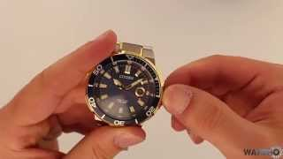 Citizen Endeavor Mens Sports Eco Drive Blue Dial Watch AW1424-54L - Hands On Review