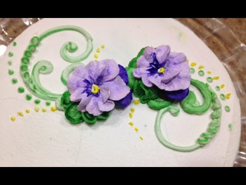 Pansies How To Make In Butter Cream Cake Decorating