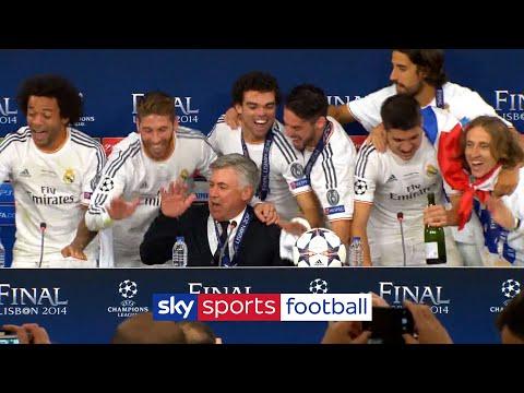 Ancelotti's press conference hijacked by celebrating players