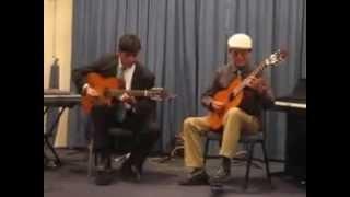 Guitarristas de Calama Chile Ricardo Pérez (Los Fenix) y Roni Pérez
