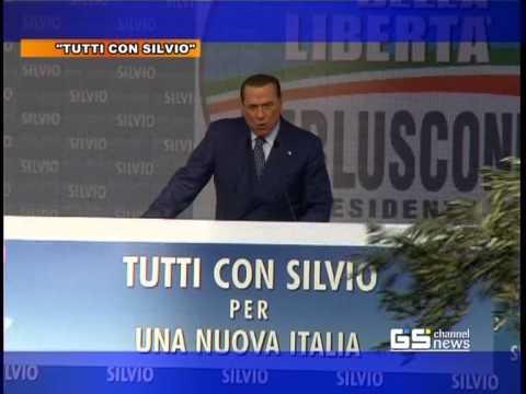 GS CHANNEL NEWS - TUTTI CON SILVIO  PER UNA ITALIA NUOVA - Comizio di SILVIO BERLUSCONI  Roma