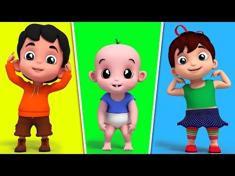 Junior Squad | Head Shoulder Knees And Toes | Nursery Rhymes | Kids Songs | 3D Rhymes