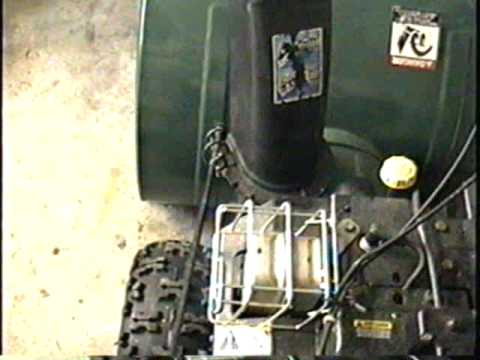 HOW TO ADJUST & Lubricate Snowblower Chute Control Handle