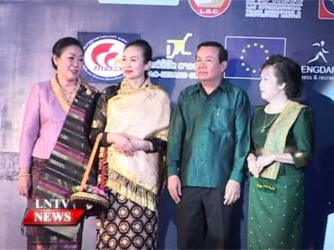 Lao NEWS on LNTV: Lao Handicraft Festival will take place this month by Grand fashion show.3/10/2014