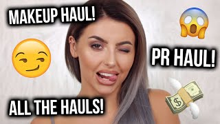 HUGE MAKEUP + PR HAUL / UNBOXING! + TIPS ON HOW TO SAVE MONEY ONLINE!
