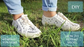 DIY | Eski Ayakkabımı Yeniledim!  | How to Revamp Shoes