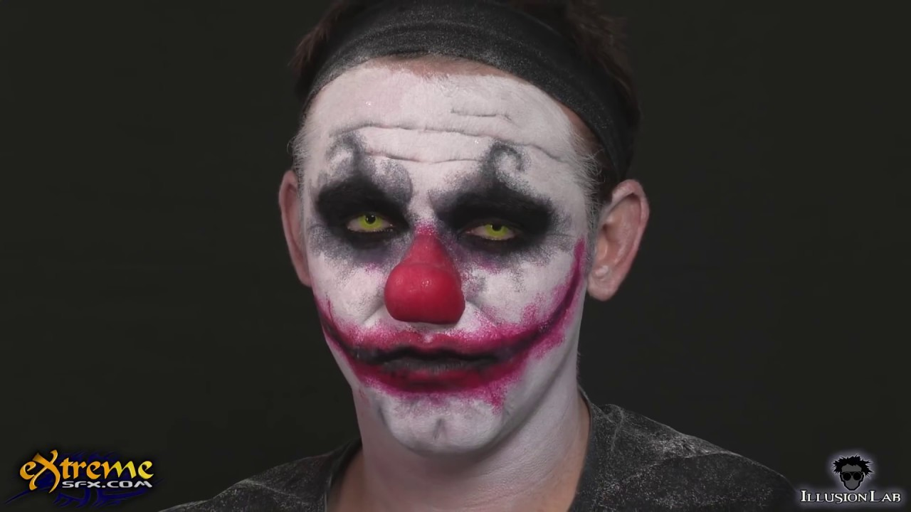 Clown Makeup How-to, Diabolical Clown Halloween Makeup Tutorial ... Simple Clown Makeup Men