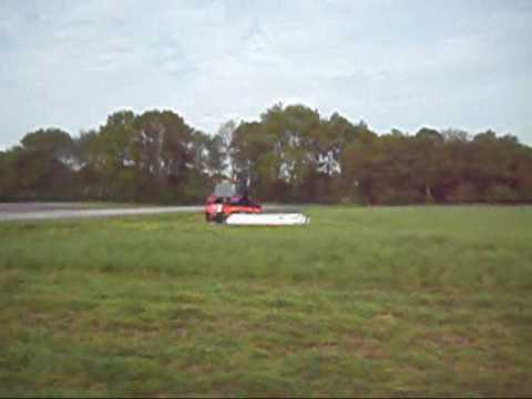 New Holland M115 mit Kuhn GMD 4410 Lift Control beim Mähen am 08.05.2009