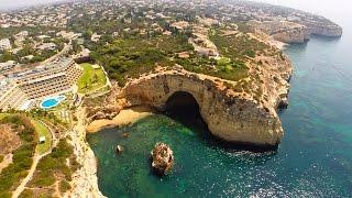 Centianes beach, Vale de Covo beach, Algar Seco and Carvoeiro beach aerial view - Lagoa - Algarve