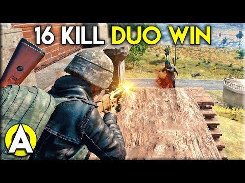 16 KILL DUO WIN! - PLAYERUNKNOWN'S BATTLEGROUNDS