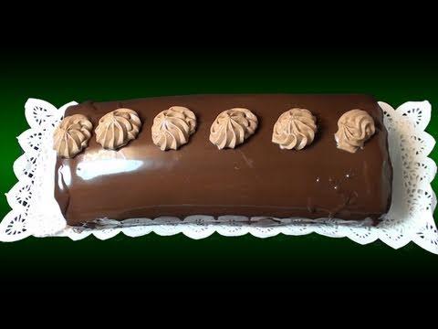 Brazo gitano de trufa y chocolate. Receta de Navidad