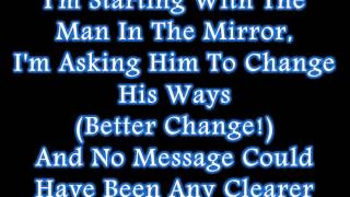 Michael Jackson - Man In The Mirror (Lyrics)