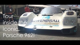 Inside tour | Iconic Porsche 962 Lowenbrau race car | Justin Bell TV