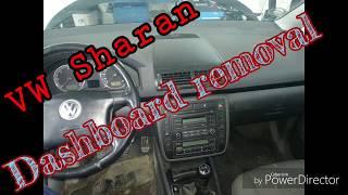 Dashboard removal VW Sharan, Demontaż deski Seat Alhambra.