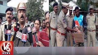 Karimnagar Police Conducts Cordon Search In Huzurabad's Rajakawada | Siezes 9 Vehicles