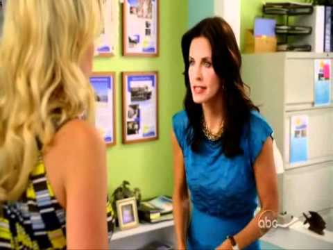 Cougar Town: Laurie & Jules - money and chocolat