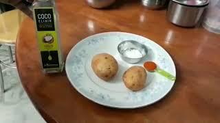 Home made Potato Chips with COCO Elixir Virgin Coconut oil