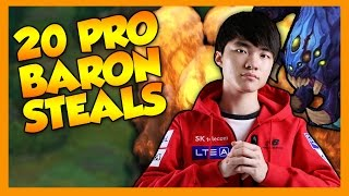 20 Pro Baron Steals - League of Legends