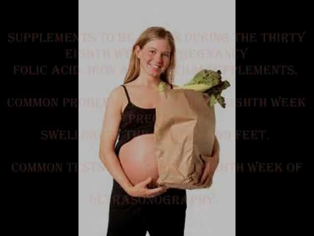 38 Weeks pregnant - fetal development