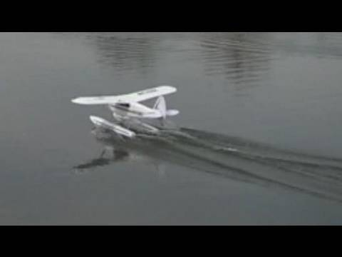 Airplane Landing on Water And Land on Water With an