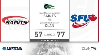 SFU Women's Basketball vs. SMU - February 16, 2019