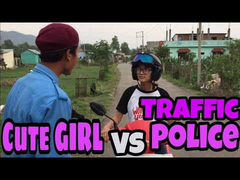 Cute girl vs Traffic police | Funny video