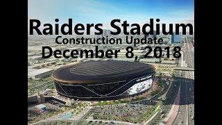 Las Vegas Raiders Stadium Construction Update 12 08 2018