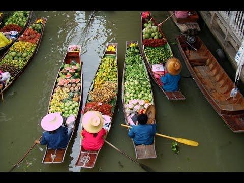 Bangkok Tailand Channel Tour Floating Market