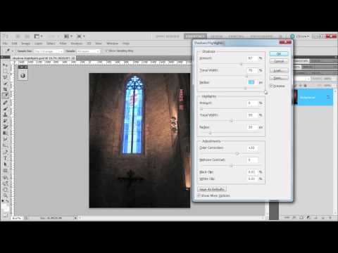 Learn how to use shadow and highlights command in Photoshop CS5