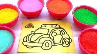 HỌC VÀ CHƠI!NHẠC THIẾU NHI HAY!ĐỒ CHƠI TRẺ EM -TÔ MÀU TRANH CÁT ĐÔI BẠN NHỎ!Colored Sand P