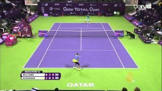 أزارينكا مع سافاروفا في نهائي بطولة قطر للتنس