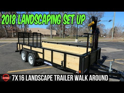 2018 Landscaping Trailer Setup And Walk Around - Brandon and Envision Landscape Solutions